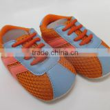 high quality hand made sports mesh fabric baby shoes