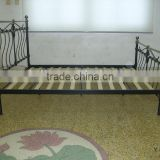Hot selling high quality home bed bedroom furniture modern double size classic iron metal bed