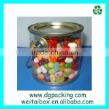 hot sale clear PET tin cans for gift packaging&packaging bucket&packaging pail                                                                         Quality Choice