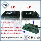 2 Player Individual Arcade Controller for Pandora Box 4 hd 645 Games to TV USB to PC Joystick Arcade Fighting Sitck Controller