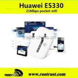 2014 New Arrival Original Unlocked HSPA+ 21.6Mbps HUAWEI E5330 Portable 3G WiFi Router Support HSPA+/HSPA/UMTS 2100/900MHz