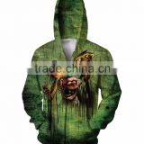 wholesale plain zip hoodies men custom Fashion cartoon 3D 80 cotton 20 polyester hoodies