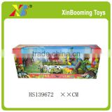 Novel dinosaur toy and plastic farm animals play set toy