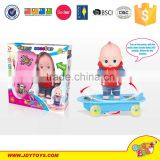 Dancing toy with wheel with music battery operated dancing toy