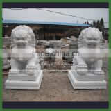 Chinese Outdoor Life Size White Stone Foo Dog Statue                                                                         Quality Choice