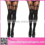 Just arrive high quality fashion girl sexy style cheap black sheer cross pantyhose