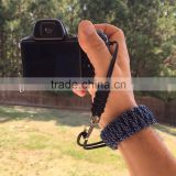 Outdoor survival paracord wrist strap fashion custom paracord camera wrist strap