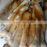 High quality fox fur skin real Red fox
