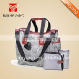 Diaper Bag with insulated bottle bag,strap hinges