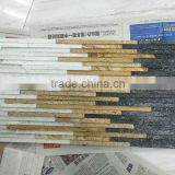CS035 white+golden+black slate cultured stone wall cladding venner . Cultured Stone tiles