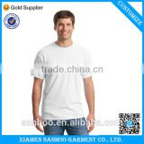 Law MOQ OEM T-shirt Plain White Crew Neck Cotton Blank Mens T-Shirts Custom Printing Label And Logo