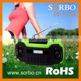 Hot Selling Handheld Hand Crank Dynamo Rechargeable Radio with Portable LED Torch Light,Emergency Solar Phone Charger
