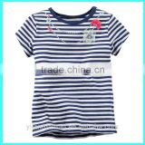 Wholesale toddler tee shirts Striped Necklace custom toddler t-shirts toddler tee shirts wholesale