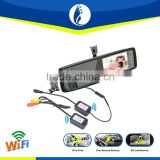 4.3 inch WiFi 1080p manual car camera hd dvr with rear view mirror