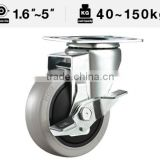 51 Series Swivel Side Brake PP Caster Wheel Medium Duty Wheel Brake