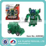 Green trans mini plastic robot car