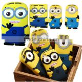 3D Silicon Minion Case For Samsung Galaxy S6,Galaxy S6 Cute Cartoon Minion 3D Silicone Case