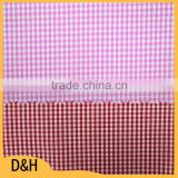 cvc shrink-resistant yarn dyed pattern plaid 55% cotton 45% polyester fabric cut pieces