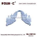 Chrysanthemum leaf veiners,veined silicone mould,gumpaste veiner mould