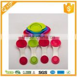 Space Saving Silicone Collapsible Measuring Cup and Spoon Sets to Measure Dry and Liquid