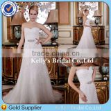 Actual Photos Sequins Beaded A-line Sweetheart Bling Wedding Dress