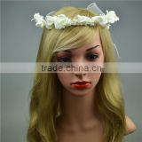 Fashion White Flowers Hair accessory indian wedding garland tassel garland new style