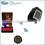 Wireless Restaurant digital table customer call waiter call button with acrylic menu holder calling system