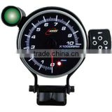 115mm white & amber & blue LED Tachometer gauge with warning & peak recall/ include outside control box &warning light