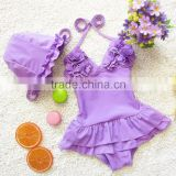 Children perform conjoined skirt bikini girls infant baby lovely south Korean children dance suit bathing suit