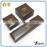 brown plastic jewelry box packaging pendant jewelry box