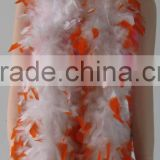 ORANGE&WHITE EDWARDIAN ERA FEATHER BOA/FEATHER SCARF/ WOMEN PARTY FANCY DRESS ACCESSORY