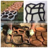 Plastic Concrete Stepping Stone molding Patio stamping Paving pathway Molds DIY Garden Tools-paver mold for garden path