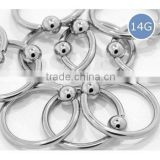 14G 38 Surgical Stainless Steel Captive Bead Ring