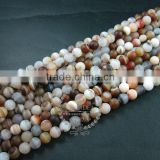 1 string 15inch string,about 38pcs,10mm round shape natural brown white mix color banded agate loose beads supplies 3110170