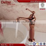 Rose Golden Faucet Single Handle, Bathroom High Water Faucet, Outdoor Oil Rubbed Bronze Faucet