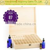 Wooden Essential Oil Storage Box Holds 87 Bottles with remove roller bottle section to store larger bottles
