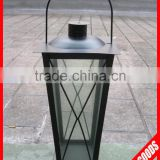 popular selling black antique metal candle lantern with handle