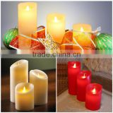 3 AAA battery operated different sizes led christmas candles home decorative