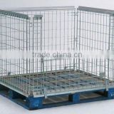 stackable pallet cage/wire mesh container