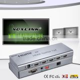 VOXLINK 4K HDMI splitter 1x4 (HDMI 1.4,HDCP1.4 ,4K,IR extension, EDID management, RS232) EU/US/UK/AU