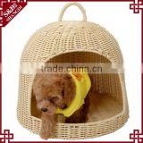 S&D wholesale products pet beds & accessories ger shaped crib fashion plastic rattan dog cat house pet bed