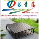 China factory outdoor furniture cast aluminum table and bar stools garden coffee sets