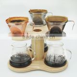 Wooden coffee server handle manufacturer, top quality, oak, color natural