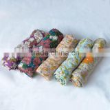 "Hot sales 47""x47""after washed customized print super soft Muslin Swaddle Blanket, Cotton and Bamboo"