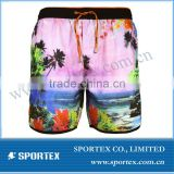 sublimation printing mens board shorts with high quality