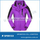 New OEM 3 in 1 windproof women skiing jackets, womens hot snow ski jacket 2014,new design ladies ski apparel