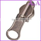 Hot-selling real shining gold metal zipper gold shining slider with yellow tapeC/E A/L suitable quality for your market