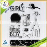 new product wholesale silicone rubber stamp scrapbooking stamps