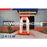 Self-propelled aerial work platform , Mobile elevating work platform safety single / double mast