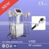 V100 Multi function 5 in 1 Diode Laser Vacuum RF Roller Cavitation Liposuction Sixpolar RF slimming beauty Machine